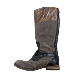 Lucchese Belle Riding Cowboy Knee High Boots 6